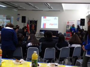 Conversatorio con alumnos de 1° medio, en el Día Internacional de la Prevención del Consumo de drogas
