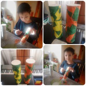 Estudiantes confeccionaron sus propios instrumentos musicales